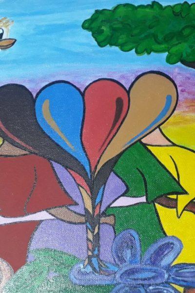 Pintura abrazo