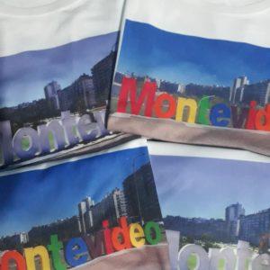 Remeras con letras Montevideo