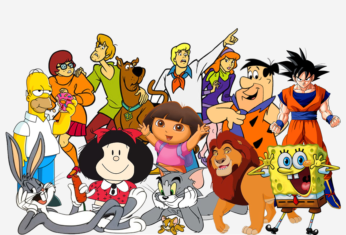 Diferentess dibujos animados