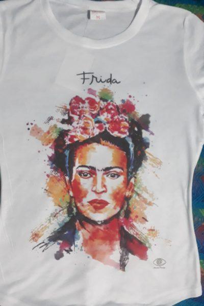 Camiseta Frida con pinceladas