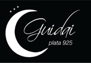 Logo Guidai Luna de Plata fondo negro