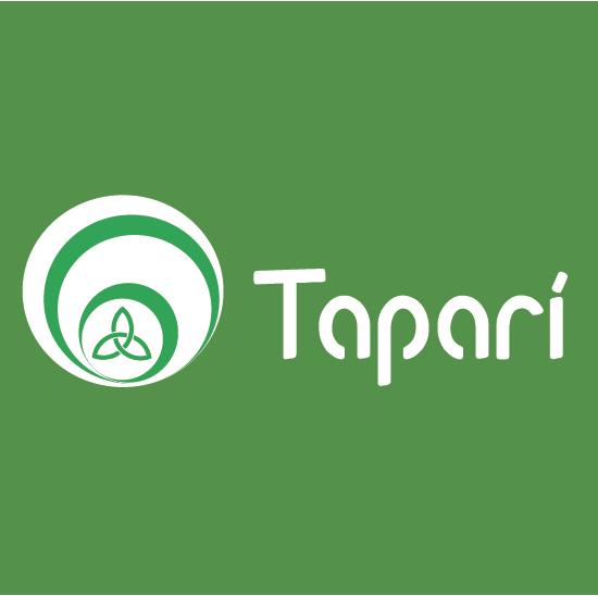 Logo cooperativa Taparí fondo verde